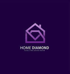 template diamond house concept vector image