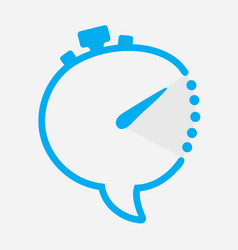 time chat icon in shape of clock with minute hand vector image