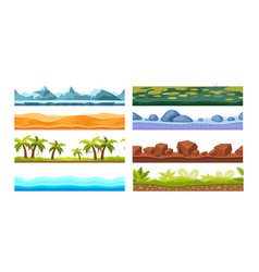 tropics with palm trees sea water desert ice vector image