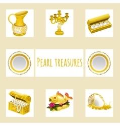 Vintage and precious treasures seven icon vector image