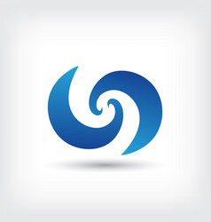 wave curve abstract logo design template vector image