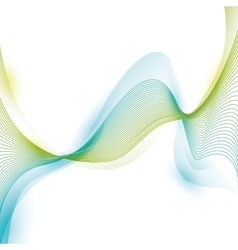 Wave wallpaper shiny blue and green background vector