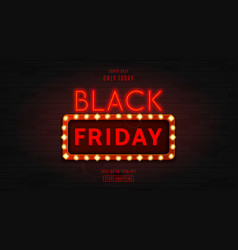 Web banner for black friday sale vector