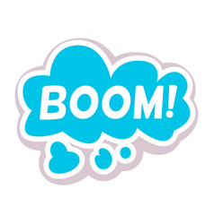 Word text boom image vector