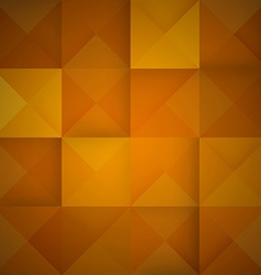 Abstract mosaic orange background vector image vector image
