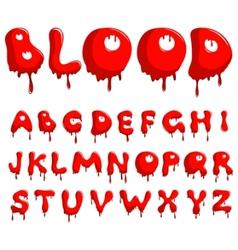 blood alphabet vector image vector image