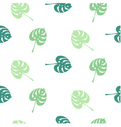 monstera tropic plant simple leaves seamless vector image vector image