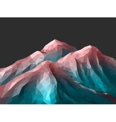 polygonal Mountain Rose Quartz Gradient vector image vector image
