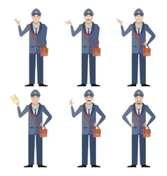 Set of Postmen vector image