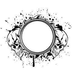 skulls frame vector image