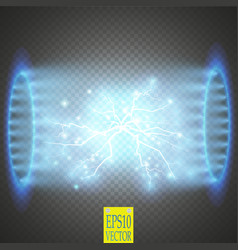 Ufo light beam isolated on transparnt background vector