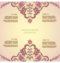 Vintage invitation card vector image