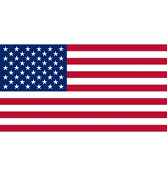American USA Flag With Real Colours And Proportion vector image vector image