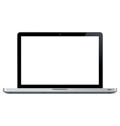blank laptop vector image vector image