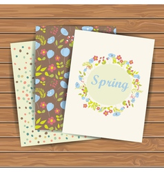Cards with flowers vector image vector image