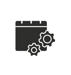 settings calendar icon vector image