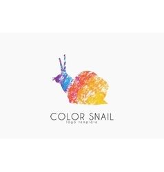 Snail logo Color snail logo Creative logo design vector image vector image