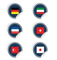 sticker of flags color vector image