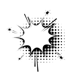 Blank template comic speech star bubble sudden vector image vector image