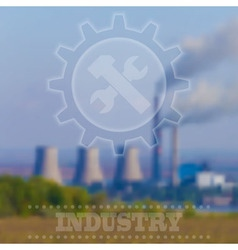 Blurry Industrial Background Interface Tem vector image