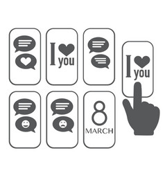 chat icon love message vector image vector image