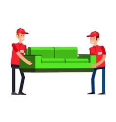 Funny pizza delivery boy vector image