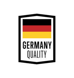 germany quality isolated label for products vector image