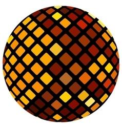 Orange mosaic ball vector image vector image