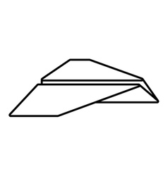 paper plane different launch fly outline vector image