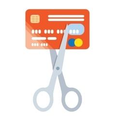 Scissors cut credit card icon vector image vector image