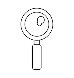 search discovery observe loupe icon thin line vector image
