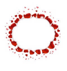 Valentines Day With Red Hearts vector image vector image