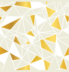cream and gold foil geometric mosaic vector image vector image