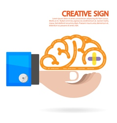 Creative brain Idea concept background vector image vector image