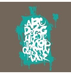 Font graffiti vandal and cans vector image vector image