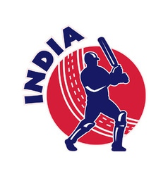 indian cricket background vector image