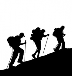 mountain climber vector image