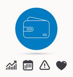 wallet icon cash money bag sign vector image