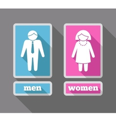 Women and men icons set colored vector image