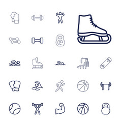 22 athletic icons vector