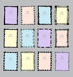 abstract cards set vector image