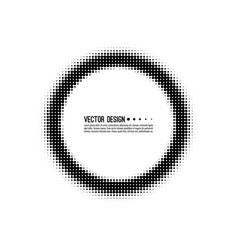 abstract round halftone dotted frame vector image
