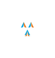abstract triangle logo icon vector image