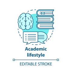 Academic lifestyle blue concept icon knowledge vector