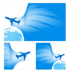 airplane flight tickets air fly sky blue travel vector image