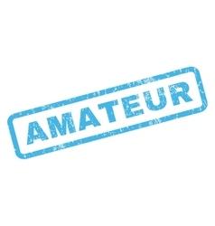 Amateur Rubber Stamp vector