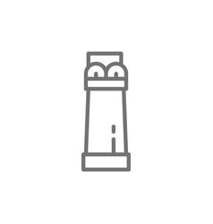 Ancient egyptian column line icon vector