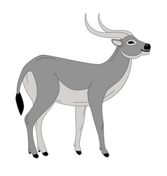 antelope profile view vector image