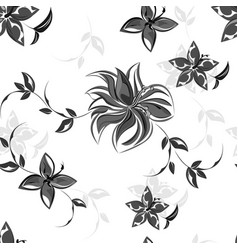 background flowers seamless pattern vector image