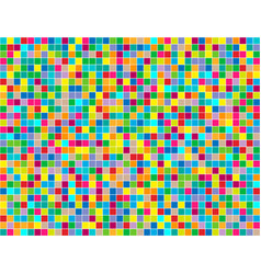 background of colored squares painted in random vector image